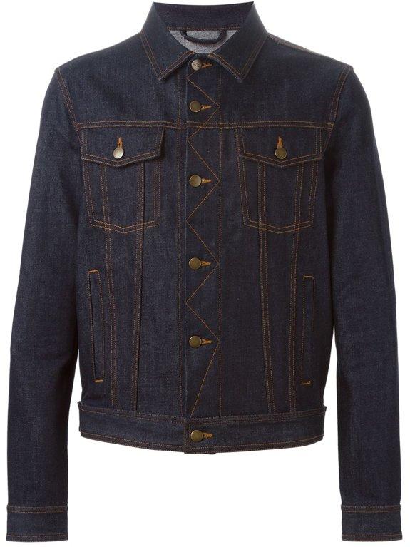 AMI ALEXANDRE MATTIUSSI,  джинсовая куртка, темно синего цвета