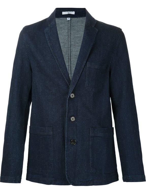 Пиджак джинсовый 321, темно-синего цвета